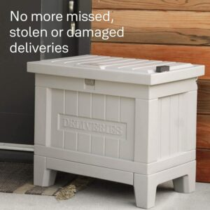 Secure delivery box porch